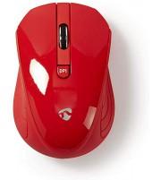 Nedis Ratón Inalámbrico   1000 ppp   3 botones   Rojo