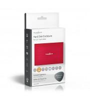 "Nedis Carcasa de Disco Duro | 2,5"" | USB 3.1 | 6 Gbps | Aluminio | Rojo"