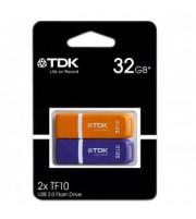 TDK TF-10 USB FLASH 32GB PAK 2 COLOR