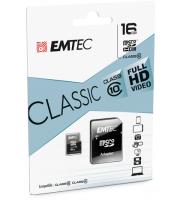 MEMORIA MICRO SD EMTEC 16 GB CLASE 10 CLASSIC